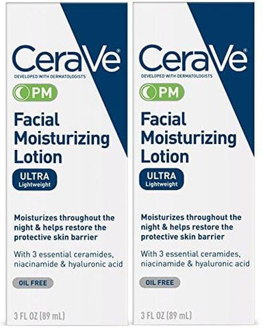 CeraVe Facial Moisturizing Lotion PM (Pack of 2) - Beautyshop.dk
