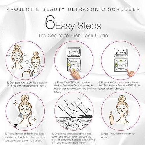 Project E Beauty Wireless Ultrasonic Skin Care Scrubber - Beautyshop.se