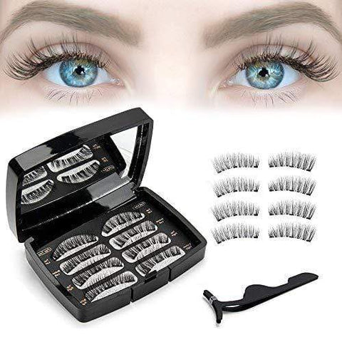 Magnetic Eyelashes 8PCS Ultra Thin Magnet Reusable False Lashes Light Weight - Beautyshop.ie
