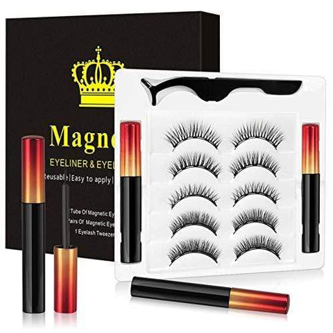 Natural Look Kit False Lashes 5 pāri un magnētiskais skropstu aplikatora rīks - Beautyshop.ie