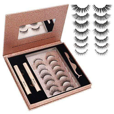 Magnetic Eyelashes Kit with Pocket Mirror and Applicator - No Glue Needed - Beautyshop.ie