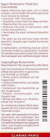 Clarins Super Restorative Total Augenkonzentrat, 15 ml - Beautyshop.de