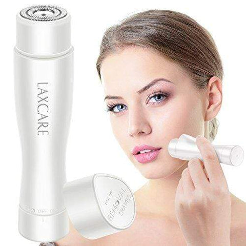Facial Hair Removal for Women Waterproof with Built-in LED Light (White)