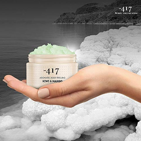 417 Dead Sea Cosmetics Kiwi & Mango Aromatic Scrub - All Natural 15.8 oz