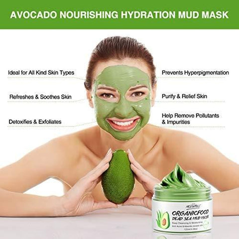 Organic Avocado Vegan Dead Sea Mud Mask - 120ml