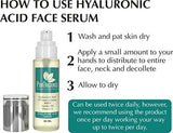 PurOrganica Hyaluronic Acid Face Serum - Riesige 60 ML Flasche - Beautyshop.de