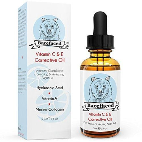 BeBarefaced Vitamin E Face Oil - Facial Vitamin C Night Serum With Hyaluronic Acid (30ml) - Beautyshop.ie