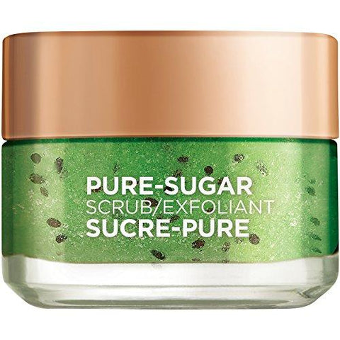 L'Oréal Paris Skin Care Pure Sugar Face Scrub with real Kiwi seeds Pore Minimizer, 50ml - Beautyshop.ie
