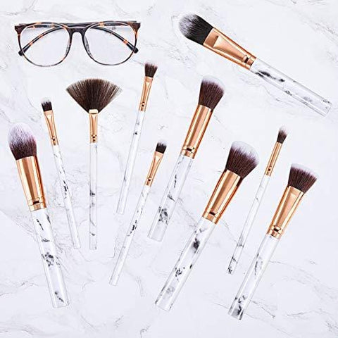 Professional Premium Marble Makeup Brushes 15 Pieces with Cosmetic Bag - Beautyshop.ie