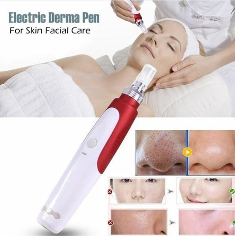 Professional Red Electric Beauty Derma Pen Stamp