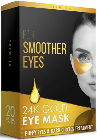 Demora 24K Gold Eye Mask– 20 pares