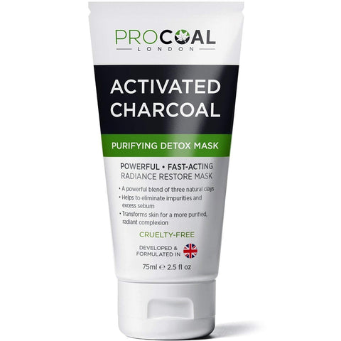 Procoal London Face Mask, Purifying & Detoxifying Charcoal Face Mask 75ml - Beautyshop.ie