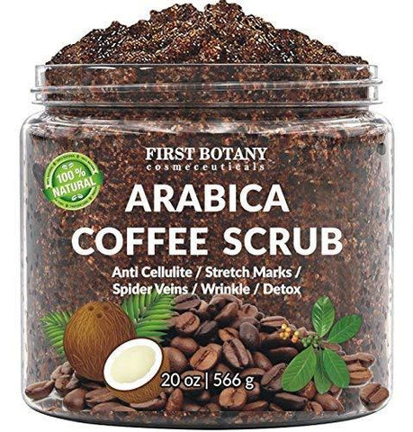 100% Natural Arabica Coffee Scrub with Organic Coffee, Coconut and Shea Butter - Beautyshop.ie