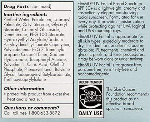 EltaMD UV facial sunscreen Broad-Spectrum SPF 30 +