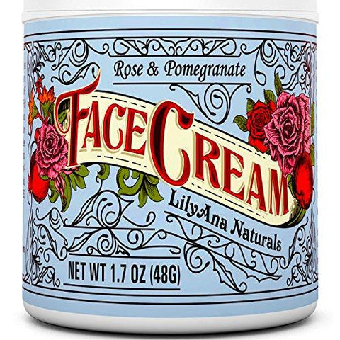 LillyAna Face Cream Moisturizer Rose & Pomegranate - Beautyshop.se