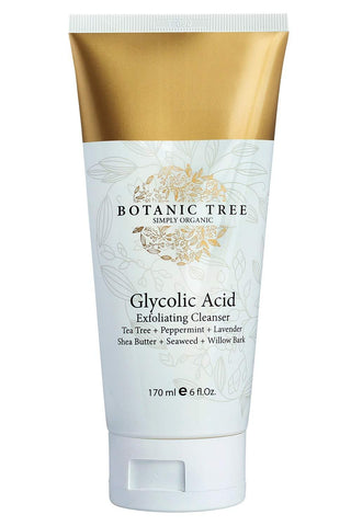 Botanic Tree Organic Glycolic Acid Face Wash Exfoliating Cleanser - Beautyshop.ie