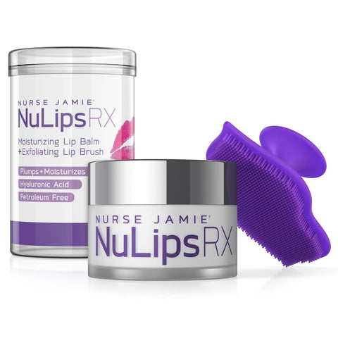 Sjuksköterska Jamie NuLips RX Moisturizing Lip Balm & Exfoliating Lip Brush - Beautyshop.ie