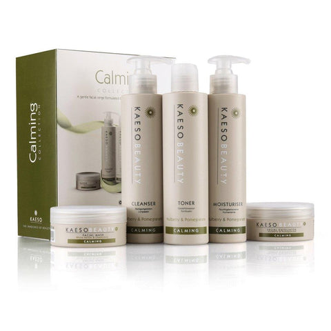 Kaeso Calming Professional Facial Kit (Includes Calming Mask, Calming Exfoliator, Calming Cleanser, Calming Toner & Calming Moisture) - Beautyshop.ie