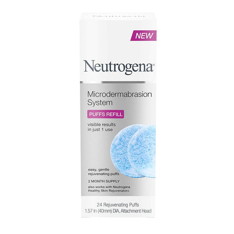 Neutrogena Skin Exfoliating and Reafirming At-Home Microdermabrasion System, Facial Puff Recargas, 24 unidades - Beautyshop.es