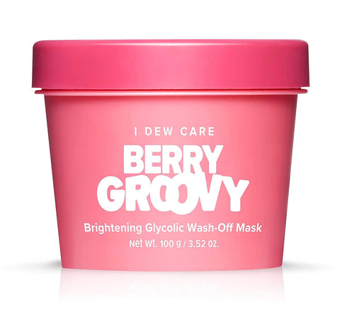 I Dew Care Berry Groovy Brightening Glycolic Wash-Off Mask - 100g - Beautyshop.ie