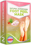Plantifique Foot Peel Mask - Dermatologist Tested Foot Exfoliator (2 Pack) - Beautyshop.se