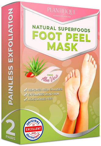 Plantifique Foot Peel Mask - Dermatologe Getestetes Fußpeeling (2er Pack) - Beautyshop.ie