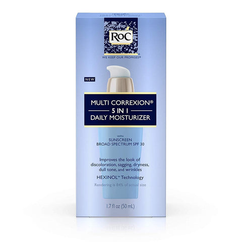 RoC Multi Correxion 5 In 1 Crema idratante viso quotidiana anti-età con SPF 30 a spettro largo (50ml) - Beautyshop.ie