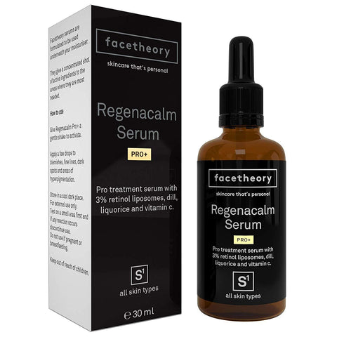 Facetheory Regenacalm Pro with 3% Retinol Liposomes, Dill and Liquorice Extract.