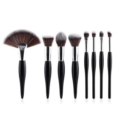 White or Black Professional 8 Piece Electroplated Handle - Beautyshop.ie