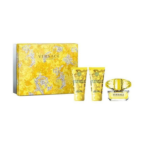 Women's Perfume Set Yellow Diamond Versace (3 pcs)