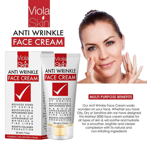 Viola Skin KRAFTIG AgeDefying Face Cream med Matrixyl 3000 - Beautyshop.ie