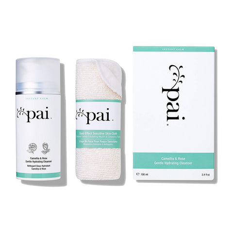 Pai Skincare Organic Camellia and Rose Gentle Hydrating Cleanser with Free Skin Cloth, 100 ml
