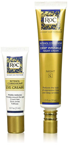 RoC Retinol Correxion Deep Wrinkle Repair Pack (Night & Eye Cream) - Beautyshop.dk