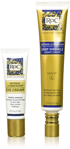 RoC Retinol Correxion Deep Zimurrak konpondu paketea (Night & Eye Cream) - Beautyshop.ie
