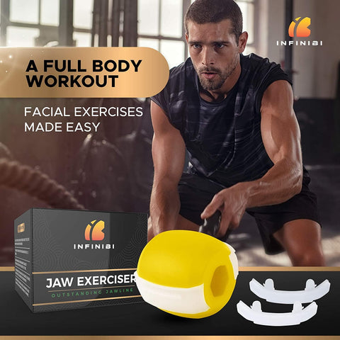 Infinibi Natural Jaw Exerciser eta Face Slimmer Toning, Stawening Stawlines and Skin - Beautyshop.ie