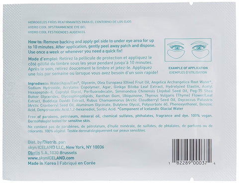 skyn ICELAND Hydro Cool Firming Eye Gels (4 pack) - Beautyshop.ie