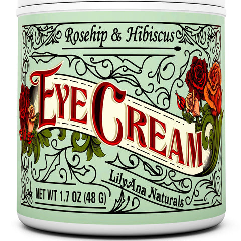 LillyAna Eye Cream Moisturiser (48g) 94% Natural Anti Ageing Skin Care - Beautyshop.ie