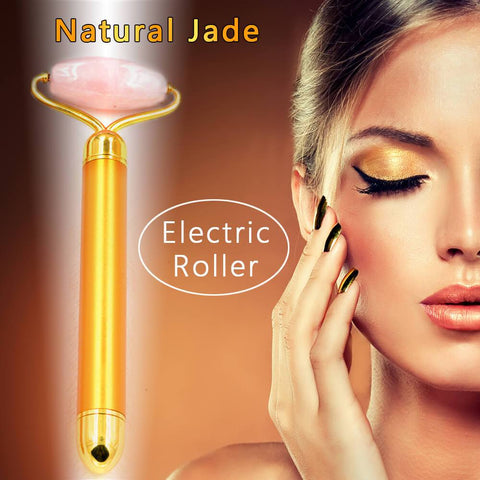 2-IN-1 Electric Jade Roller Facial Massager - Beautyshop.se