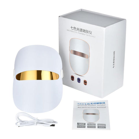 7 Colours Skin Tightening Rejuvenation LED Photon Facial Mask Therapy - Beautyshop.ie