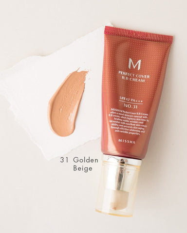 MISSHA Perfect Cover BB krēms SPF 42 PA +++ - 50ml - Beautyshop.lv