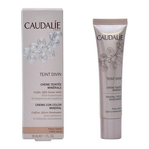 Hydrating Cream with Color Teint Divin Caudalie - Beautyshop.ie