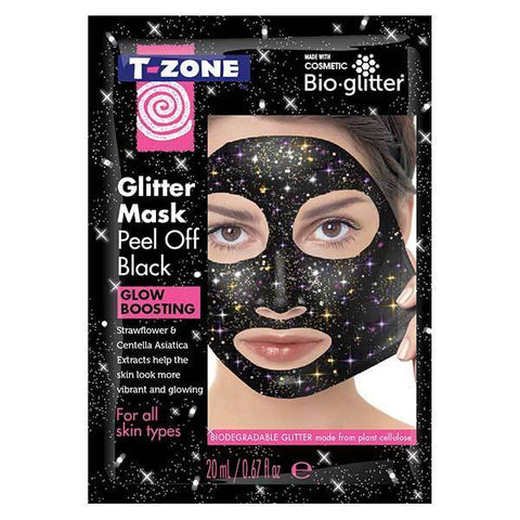 Maska T-Zone Glitter Peel Off Mask Black (Balení po 4)
