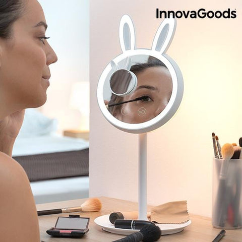 Mirrobbit 2-in-1 Miroir LED de maquillage - Beautyshop.fr