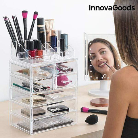 Ladice s akrilnim make up organizatorom 7 i pretinci 16 - Beautyshop.ie