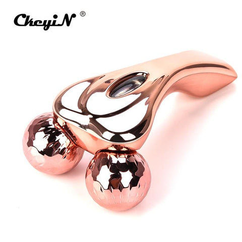 3D Rose Gold Roller Y-Shape Massager - Beautyshop.ie