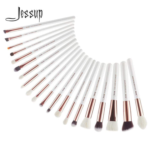 White/Rose Gold 20pcs Makeup Brushes