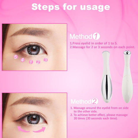 "Akių masažuoklis ""Sonic Anti-Wrinkle Vibrating Eye Massager"" - Beautyshop.lt"