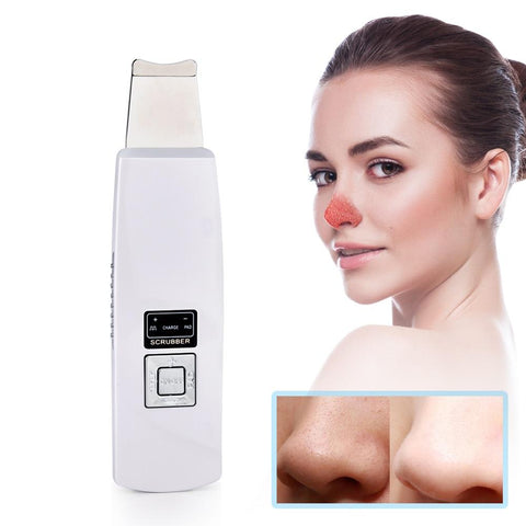 Ultrasonic Derma Deep Cleanse Facial Vibration Skin Scrubber - Beautyshop.ie