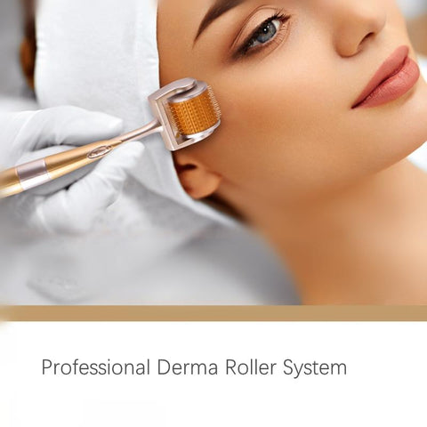 Premium Professional Gold Titanium DRS 196 Derma Roller's (2 Sizes) - Beautyshop.ie