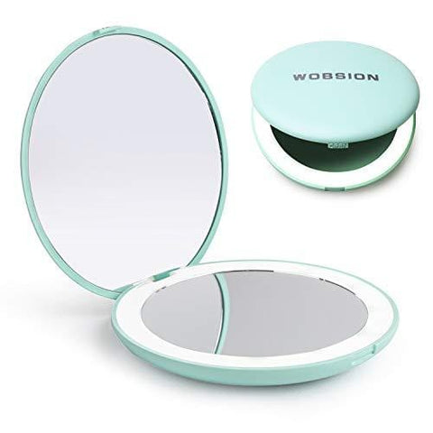 3.5 inch Illuminated Folding LED Lighted Travel Compact Makeup Mirror - Beautyshop.ie